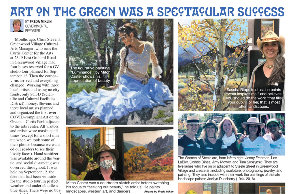 Art on the Green article